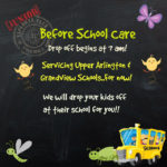 Before School Care for 2019/20 School Year