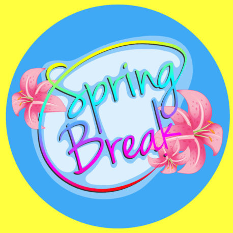34139940 - poster with a message spring break