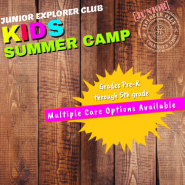 Summer Camp 2020 at the JUNIOR EXPLORER CLUB